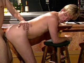 Blond horny gay in butt fucking drilling
